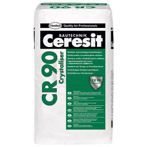 Кристализиращ хидроизолационен шлам CR 90 Ceresit
