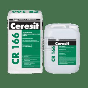 Еластичен двукомпонентен хидроизолационен шлам CR 166 Ceresit