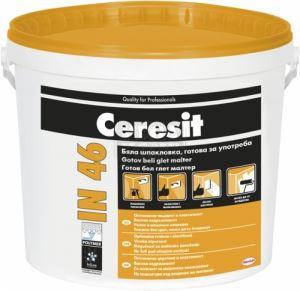 Бяла шпакловка готова за употреба IN 46 Ceresit