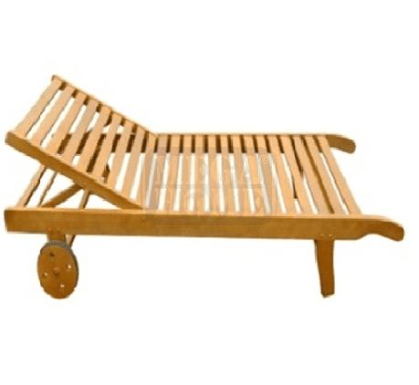 Дървен шезлонг 71 x 190 x 77.5 см