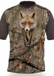 Тениска с къс ръкав Gamewear 3D Лисица