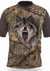 Тениска с къс ръкав Gamewear 3D Вълк