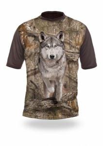 Тениска с къс ръкав Gamewear 3D Вълк бягащ