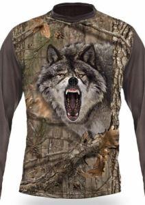 Тениска с дълъг ръкав Gamewear 3D Вълк