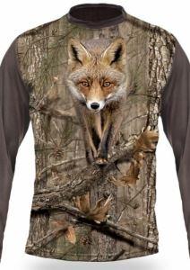 Тениска с дълъг ръкав Gamewear 3D Лисица