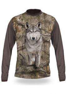 Тениска с дълъг ръкав Gamewear 3D Вълк бягащ