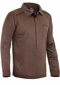 Стреч риза с магнитно закопчаване Hillman дълъг ръкав
