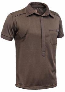 Стреч риза с магнитно закопчаване Hillman къс ръкав