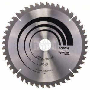 Диск Bosch Optiline Wood за циркуляр за рязане чрез потапяне