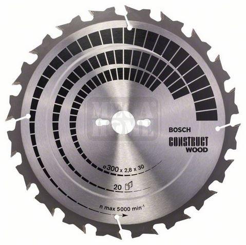 Диск Bosch Construct Wood за стационарен циркуляр - стандартен