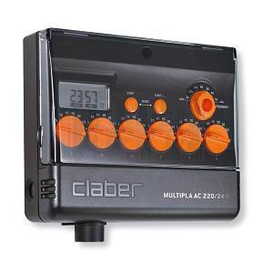 Компютър за напояване Claber Multipla AC 220 / 24 V LCD
