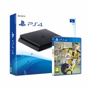 Комплект конзола Sony PlayStation 4 Slim 1TB Black + FIFA 17