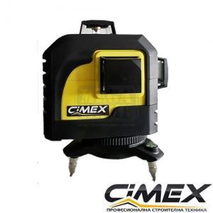 Професионален самонивелиращ 3D линеен лазерен нивелир CIMEX