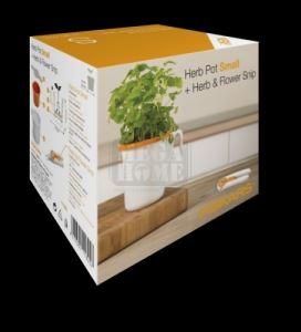 Пластмасова малка саксия за билки Fiskars + ножица за билки