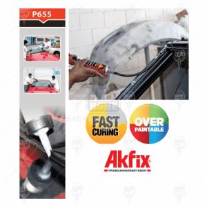 Уплътнител полиуретанов Akfix P655 за автостъкла 12 бр х 300 мл