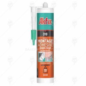 Монтажно лепило Течен пирон Akfix 310 Acrylic 24 бр х 310 мл