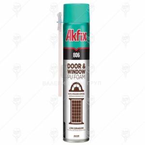 Полиуретанова пяна Akfix 806 слаборазширяваща се 12 бр х 750 мл