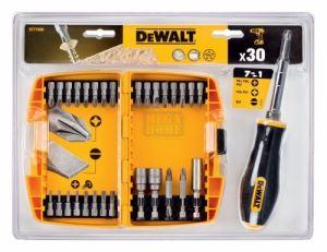 Комплект накрайници и битове с дръжка Dewalt DT71506 30 части