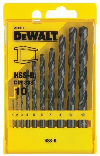 Комплект свредла за метал Dewalt DT5911 10 бр 1 - 10 мм