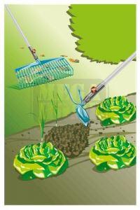 Комплект гребло мотика и дръжка Gardena combisystem