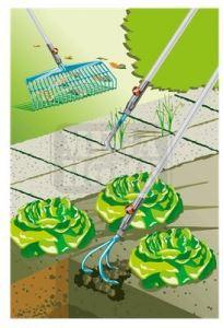 Комплект гребло разрохквач и уред за фуги Gardena combisystem