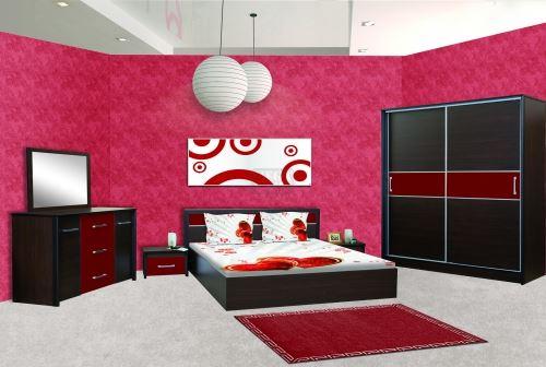 Спален комплект Ари с корпус цвят череша Ларди
