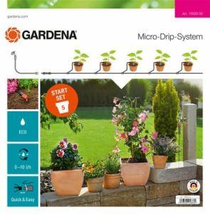 Начален комплект за саксии Gardena S дисплей