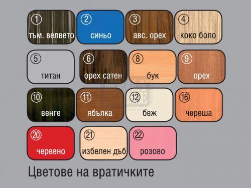 Спален комплект Съни с корпус цвят коко боло Ларди