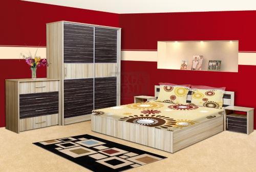 Спален комплект Съни с корпус цвят орех Ларди