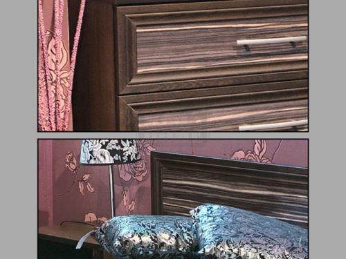 Спален комплект Рино с корпус цвят череша Ларди