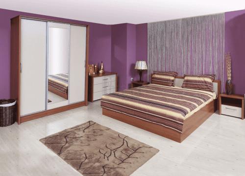 Спален комплект Рома с корпус цвят череша Ларди