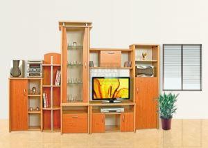 Модулна секция Анжело с корпус цвят череша Ларди