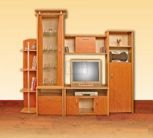 Модулна секция Анжело с корпус цвят орех Ларди