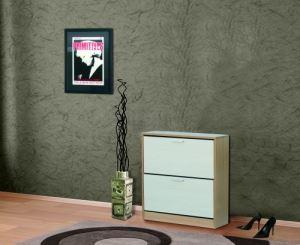 Шкаф за обувки с корпус цвят череша 80 х 84 см Ларди