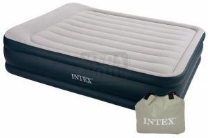 Надуваем матрак с вградена помпа Intex Deluxe 152 х 203 х 42 см