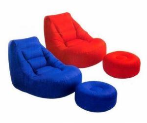 Комплект ергономичен фотьойл и табуретка Intex