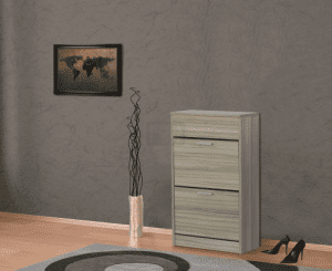 Шкаф за обувки с корпус цвят череша 60 х 100 см Ларди