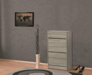 Шкаф за обувки с корпус цвят орех 60 х 100 см Ларди