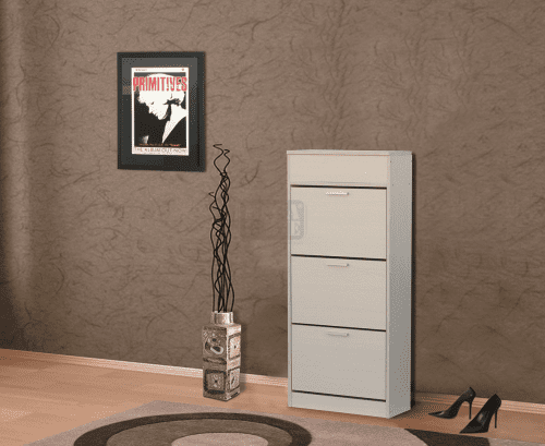 Шкаф за обувки с корпус цвят венге 60 х 136 см Ларди