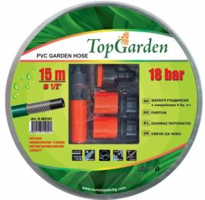 Комплект маркуч за вода 1 / 2 x 15 м с 4 бр конектори Top Garden