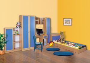 Комплект за детска стая Доби Лукс с корпус цвят орех Ларди