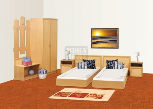 Хотелско обзавеждане с корпус с цвят орех Ларди