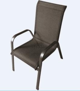 Градински стол DeHome ZRC032 с метална конструкция