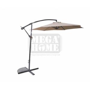 Чадър градински Лале с метална стойка и механизъм 3 м