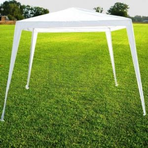 Градинска шатра от полиетилен 2.4 х 2.4 м бяла
