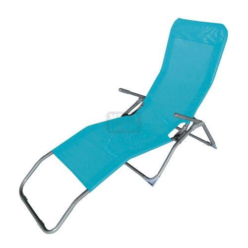 Сгъваем стол метална конструкция с текстил 140 х 59 х 96 см