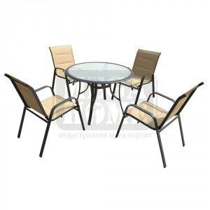 Градински сет 5 части - 4 стола и 1 маса