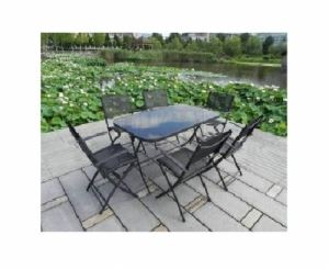 Градински сет 7 части - маса и 6 стола MG158B