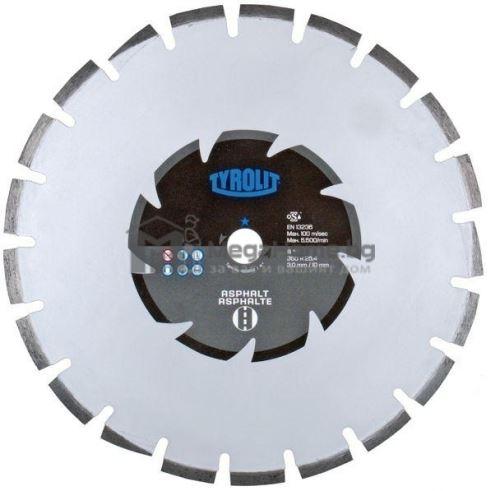 Диамантен диск за сухо рязане на асфалт 300 х 25.4 мм BASIC*