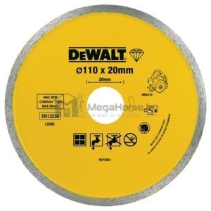 Диамантен диск за сухо рязане DeWALT 110 мм х 20 мм